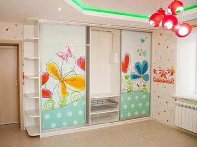 Шкаф-Купе в Детскую комнату Фотопечать+Угловой Терминал
